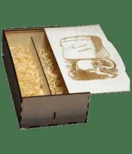 лазерная резка, короб подарочный для вина